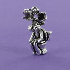 Moose on Toilet Charm Sterling Silver for Bracelet Humorous Comical