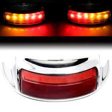 Fender Tip Rear LED Light w/ Red Lens for 2009-2016 Harley Touring Road King