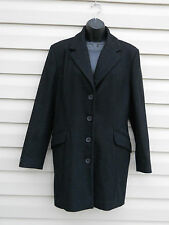 WORTHINGTON BLACK Wool PEA COAT size 6 Classic Winter Blazer Jacket EUC