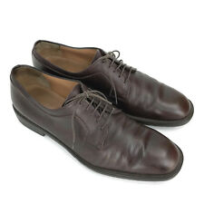 Salvatore Ferragamo Men's Brown Pebbled Leather Lace Up Oxfords Size 10.5 D