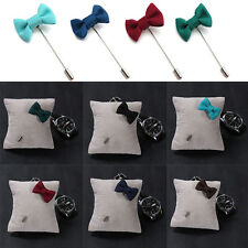 Lapel Pins Bowknot Handmade Boutonniere Stick  Pin Men's Accessories Funny HUUS
