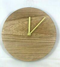 "8"" Diameter Modern Blank Simple Round Wooden Wall Clock - Wall Art Wood Grain"