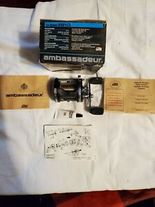 Abu Garcia Ambassadeur 6501C4 High Speed Left Hand Reel With Box, Papers SWEDEN
