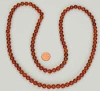 Karneol Kette, Perlen 8mm , Länge ca. 80cm