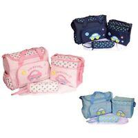 4Pcs/set Baby Nappy Diaper Changing Bag Maternity Mummy Tote HandbagWaterproofBC