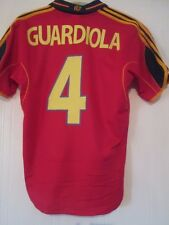 España euro 2000-2002 Guardiola 4 Hogar Camiseta De Fútbol Tamaño Pequeño/42003