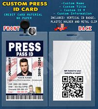 PRESS CUSTOM PVC ID Card w/ Clip / PRESS - JOURNALIST - ID CARD