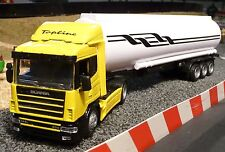 LKW Scania mit TANKAUFLIEGER in 1:43 Slotcar-DEKORATION für Carrera        15523