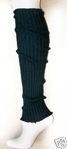 Foot Traffic Black Cable Heavy Knit Leg Warmer Ladies Womens Socks New
