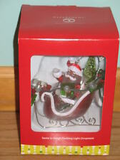 Dept. 56 Santa With Sleigh Flashing Lights NEW Christmas