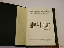 Harry Potter Chamber of Secrets Tom Riddle Diary Journal Promotional RARE NEW