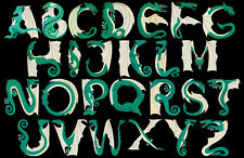 DRAGONS LAIR  - 52 MACHINE EMBROIDERY FONT PACK DESIGNS (AZEB)