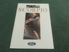 Nov 1987/1988 Ford Scorpio 2.9 V6/4x4-UK 24 página folleto-FA817 Granada
