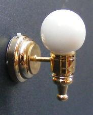 1:12 Scale Working LED Battery Globe Wall Light Dolls House Miniature DE304