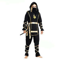 Ninja Assassin Japanese Samurai Halloween Fancy Dress Costume Cosplay Outfit
