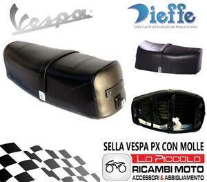 P0130 Selle Noir Pour Piaggio Vespa Px Arc-en-Ciel 125 150 200 Avec Ressorts