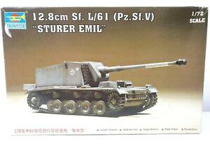Trumpeter Model 12.8cm Sf L/61 Sturer Emil German WWII Tank 1:72 Scale Model Kit