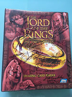 Lord of The Rings LOTR TOPPS The Two Towers Autograph Card BINDER signed x17