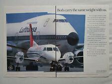 9/1989 PUB GENERAL ELECTRIC ENGINE BOEING 747 LUFTHANSA SAAB 340 CROSSAIR AD