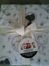 SNOOPY ASTRONAUT in SPACE PEANUTS BLANKET THROW 60 x 90 LARGE SIZE by BERKSHIRE