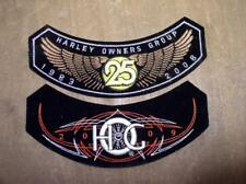 Harley Davidson Patch PAIR! HOG Owners Group 1983-2008, 09 Biker MC Outlaw Club