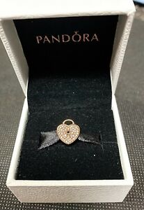 Pandora 14K HEART LOCK Charm - Item 750833CZ - New - MSRP $425