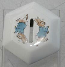 Wedgwood Peter Rabbit Hexagon China Piggy Bank Coin Money Box Beatrix Potter