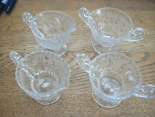 "Cambridge Rose Point Individual Creamer & Sugar Bowl  Gadroon Edge ""1 set ONLY"""