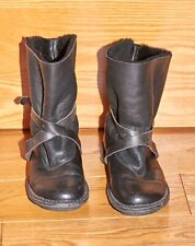 TRIPPEN BLACK LEATHER BOOTS SHEEPSKIN LINED SIZE 41/7