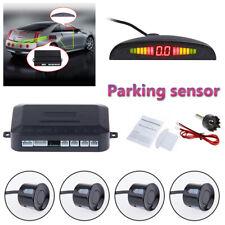 Black Car Parking Sensors LED Display Car Reverse Back up Kit System 4 Sensors