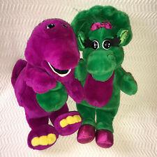 Barney the Purple Dinosaur Baby Bop 2 Plush Hand Puppets 1992 Stuffed Animals