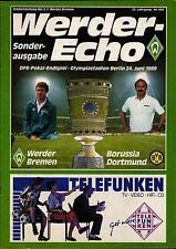 DFB-Pokalendspiel 1989 SV Werder Bremen - Borussia Dortmund, 24.06.1989 - Echo