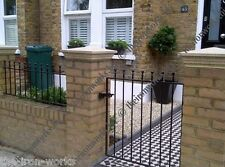 """WROUGHT IRON METAL GATE GARDEN GATES MANOR 36""""op x 4ft TALL STRONG SOLID FEATURE"""