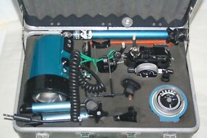 Complete Nicronos II Underwater Camera Kit with Light, Meter, Acessories in Case