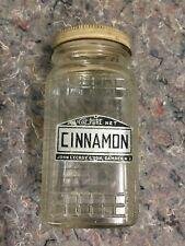Vintage Hoosier Jar With Lid And Cinnamon Label - Lecroy & Son