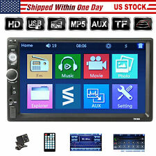 Double DIN Car Stereo + Back Up Camera Touch Screen 7