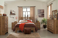 Cottage Design Brown Finish 5pcs Bedroom Set NEW Furniture w/ Queen Size Bed A1C