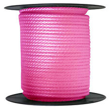 "ANCHOR ROPE DOCK LINE 5/8"" X 200' BRAIDED 100% NYLON PINK MADE IN USA"