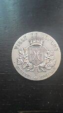médaille penning bronze argent ville de Longwy Meurthe Moselle 22 août 1914 1920