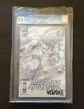 Wolverine Weapon X 1, CGC 9.8, 1:100 Kubert Sketch Variant
