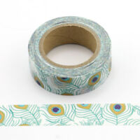 Gorgeous Peacock Feather Washi Decorative Tape Includes FREE UK PP