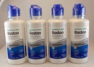 Bausch + Lomb Boston ADVANCE Conditioning Solution ~ FOUR bottles 3.5 FL oz each