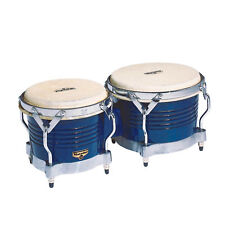 Latin Percussion LP Matador Wood Bongos Blue Gold Hardware