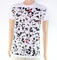 Disney Mens T-Shirt White Size Medium M Repeating Mickey Tee Crewneck $24- #260
