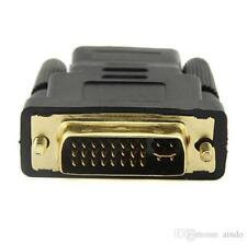 DVI Male 24+5 HDMI Female Plug Converter Socket Adaptor for HDTV Gold Plated