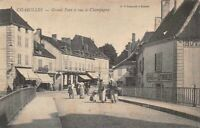 CHAROLLES - Grand pont et rue Champagny