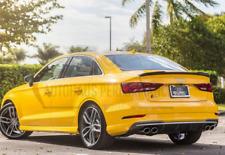 Audi A3 S3 RS3 8V REAR SPOILER BOOT LIP BLACK MATTE 2013-2018