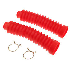 Motorcycle Front Fork Shock Absorber Dust Cover w/ Clips 210x42x25mm Red