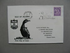 UK GUERNSEY JETHOU, cover FDC local stamps 1962, Europe
