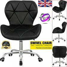 Swivel PU Leather Cushioned Chair Computer Office Desk Studio Salon Barber Black